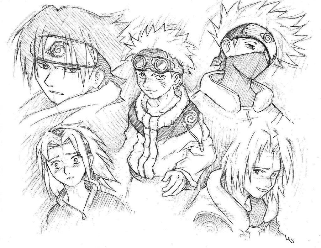 imagens de naruto para colorir online - Desenhos de Naruto para Colorir Colorir