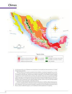 Apoyo Primaria Atlas de México 4to grado Bloque I lección 7 Climas