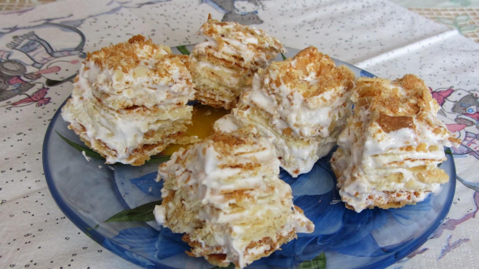 Торт Наполеон в домашних условиях - рецепт с фото 65