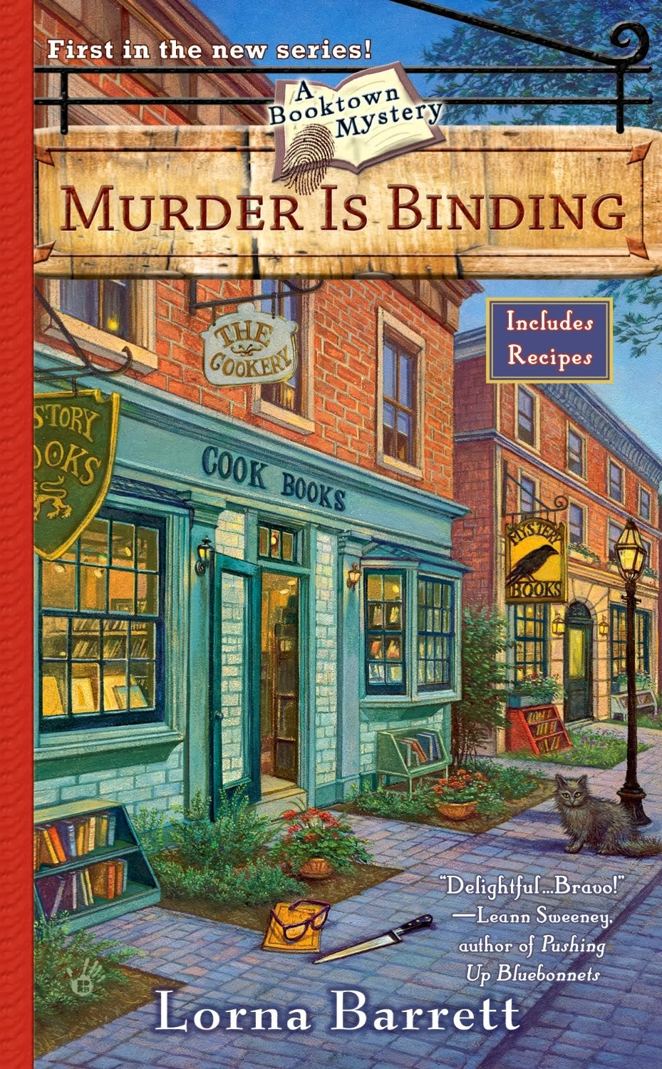 Murder is Binding by Lorna Barrett cover