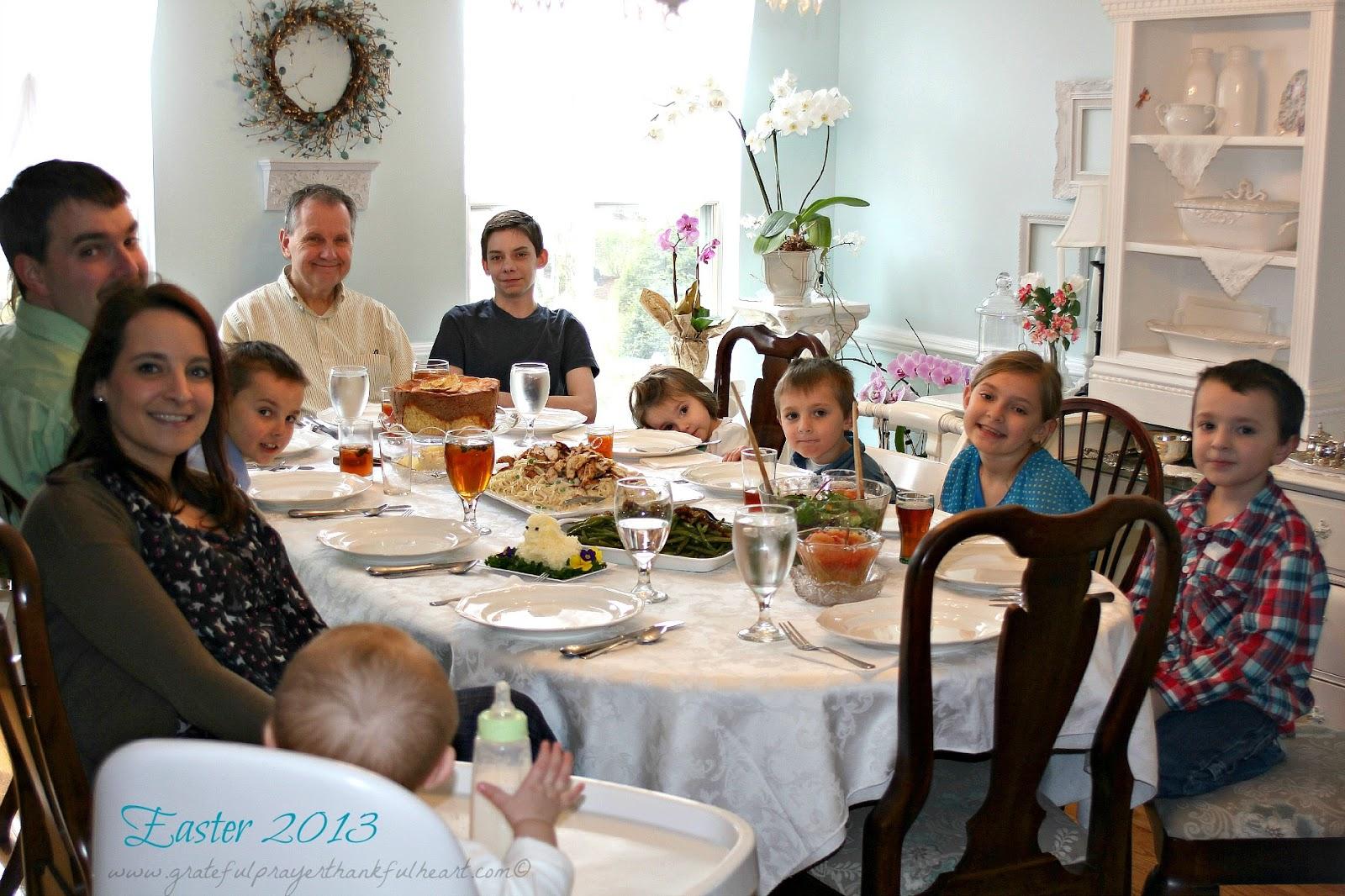 Easter Dinner Prayer Family Photo Album - The Miracle of Easter