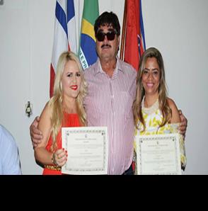 Prefeita de Arataca Katiana de Agenor e sua vice Juliana Chagas