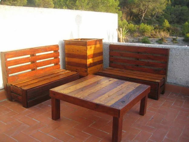Madera arte muebles rusticos por miguel ruiz for Sillones de patio de madera