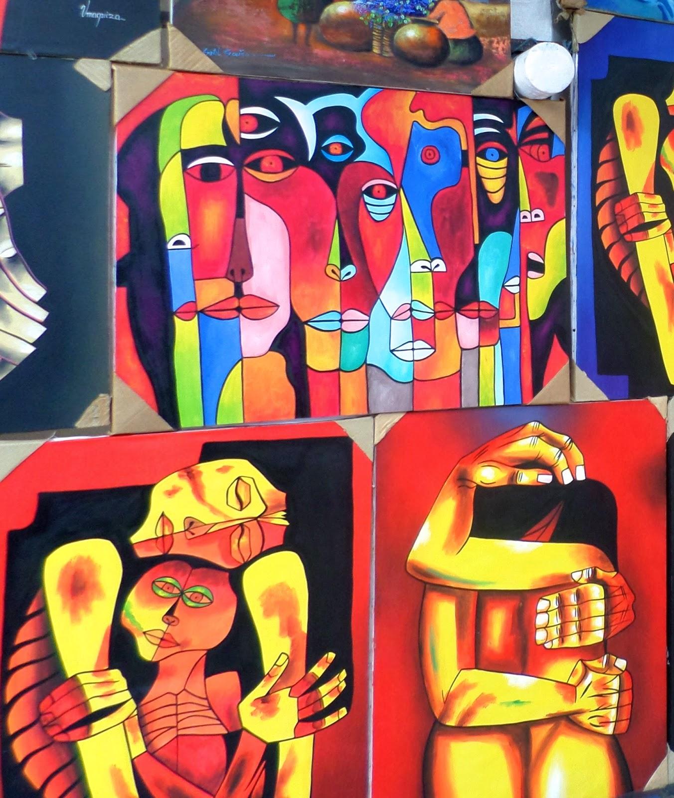Saturday Volcano Art: Tigua painting from Ecuador | Ecuador ...