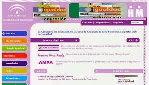 Portal web de Igualdad de La Consejería de Educación de la Junta de Andalucía