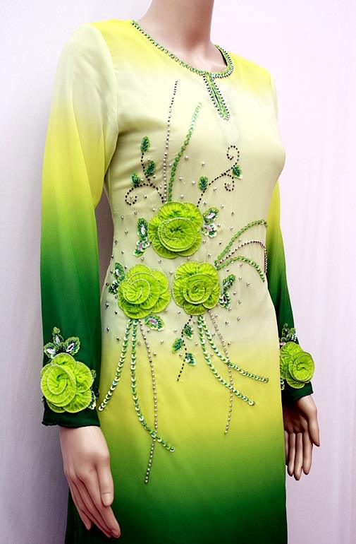 ZMBK6180 Baju Kurung Fesyen - Green