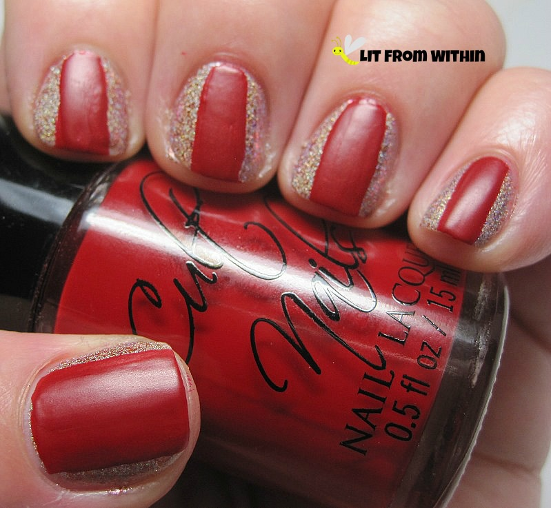 Cult Nails Kiss, a wax finish red creme