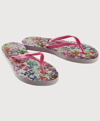 Floral print flip flops from Joe Browns
