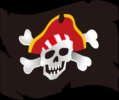 海賊の旗の画像