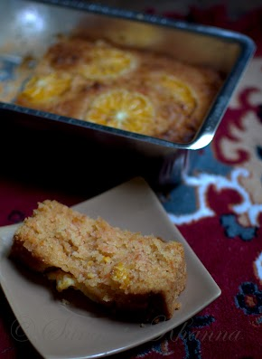 carrot orange cake with marmalade glaze | egg less and ageless...