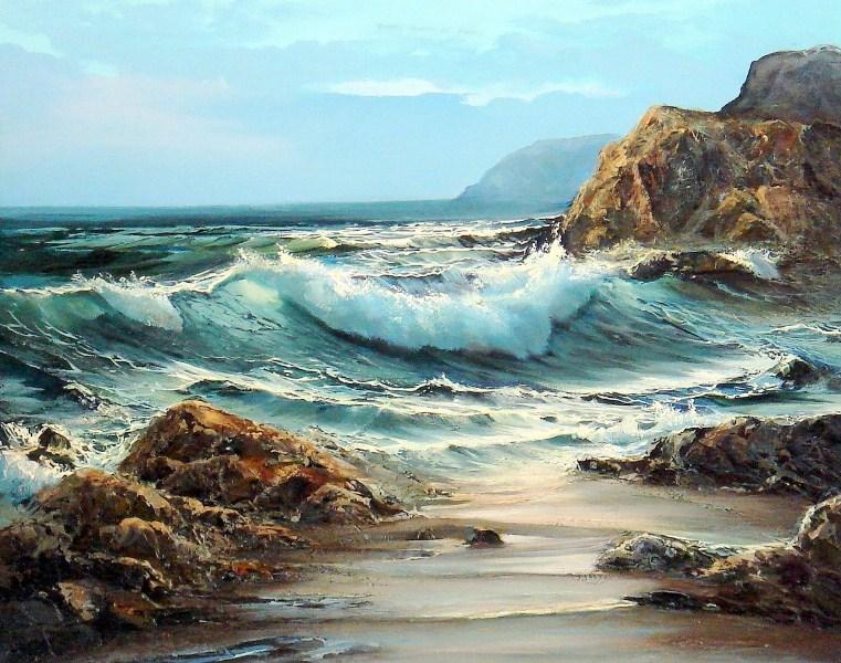 Im genes arte pinturas paisaje con rocas del mar for Comprar cuadros bonitos