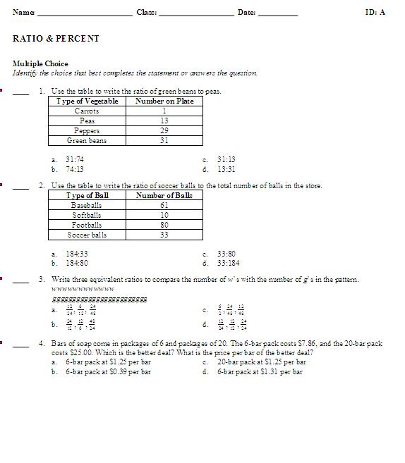 6th grade math ratio worksheets car interior design. Black Bedroom Furniture Sets. Home Design Ideas