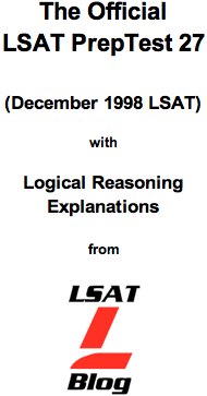 LSAT Blog PrepTest 27 December 1998 LSAT PDF