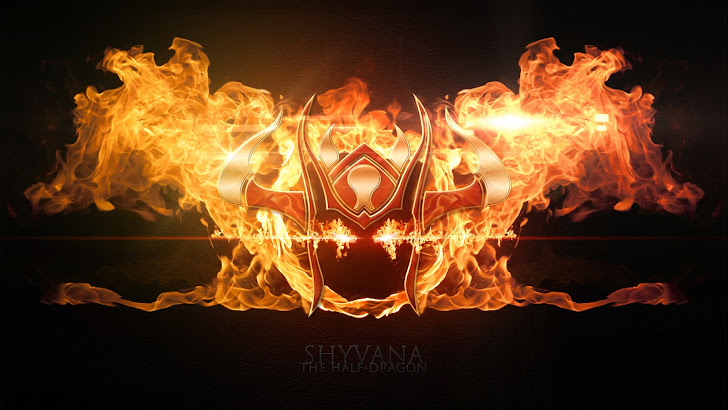 Shyvana flaming logo icon League of Legends