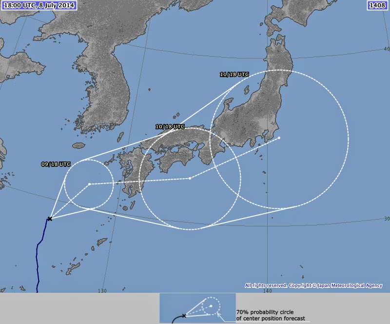 Japan Meteorological Agency Neoguri Track