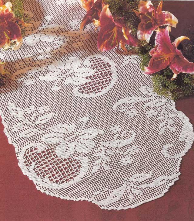 Hobby lavori femminili ricamo uncinetto maglia centro - Centro tavolo all uncinetto ...