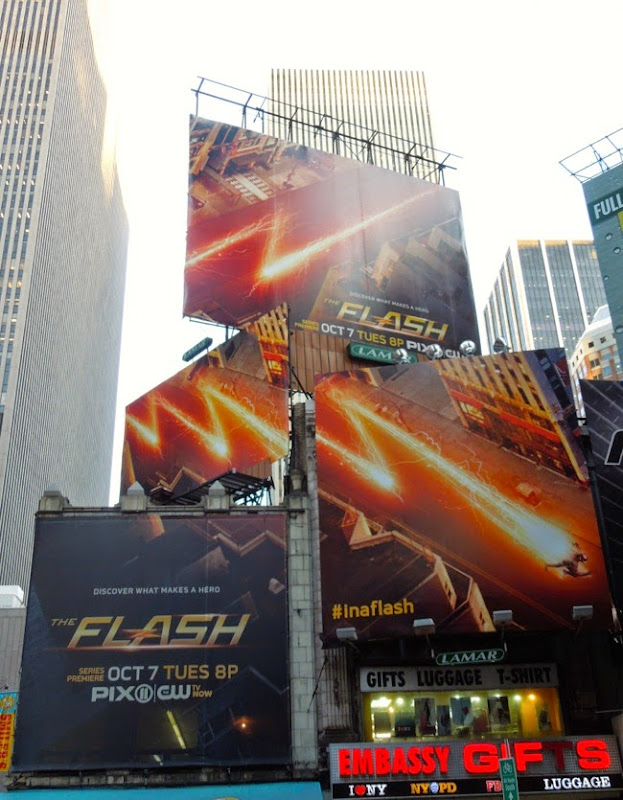 The Flash season 1 billboards Times Square