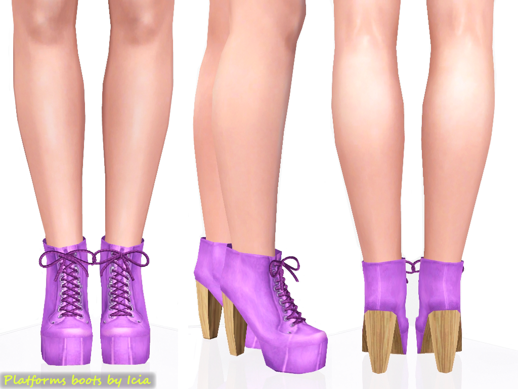 Shoes / Heels Platform+boots_purple