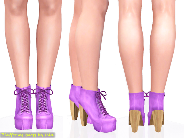 Lita Platforms by Icia Platform+boots_purple