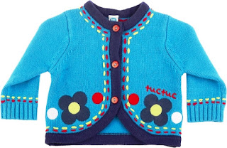 Girls Knitted Sweater - Tuc Tuc Night Picnic