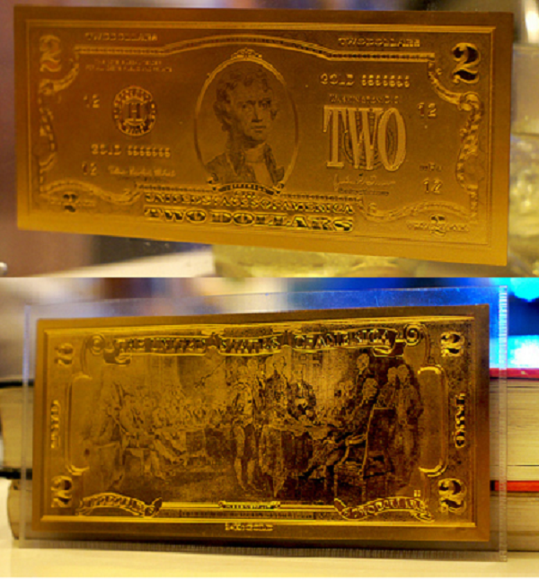 tiền lì xì mạ vàng