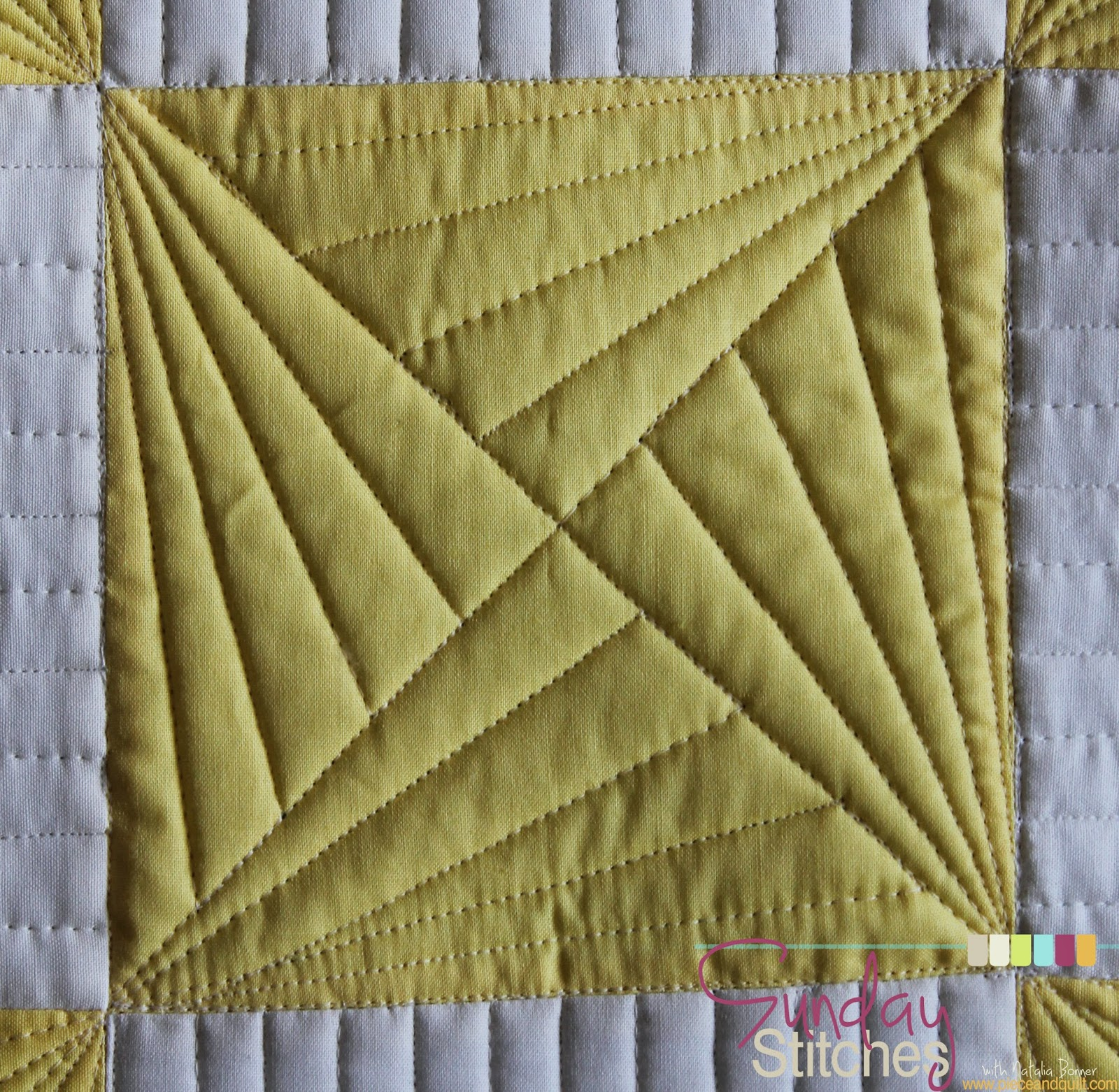 Free Motion Quilting Patterns For Blocks : Piece N Quilt: How to: Free Motion Quilt SpinningxBlock - Sunday Stitches