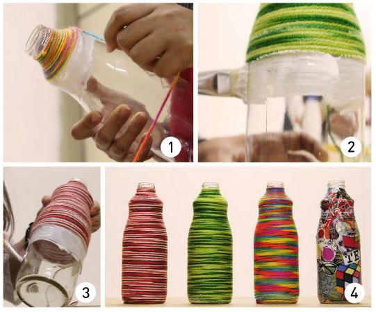 mini jardim em garrafas:JARDIM COLORIDO DA TIA SUH: Dia das Mães: Transforme mini garrafas em