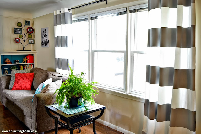 DIY striped curtains the final project