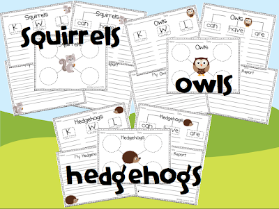 http://www.teacherspayteachers.com/Product/Forest-Animals-Informational-Writing-Pack-905701