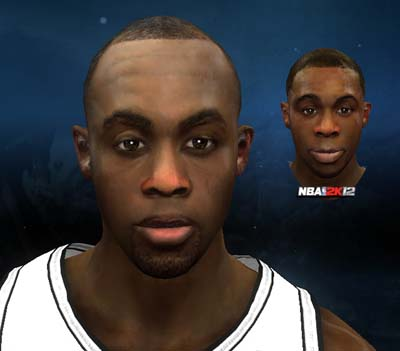 Nba 2k12 james anderson of san antonio spurs cyber face patch