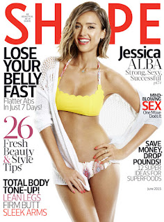 Jessica Alba shows off hot body on the cover of Shape magazine.