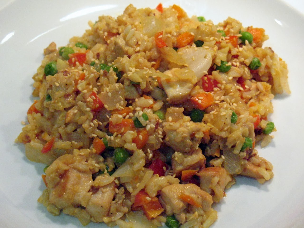 spicy fried rice with bean sprouts chicken and peanuts egg fried rice ...
