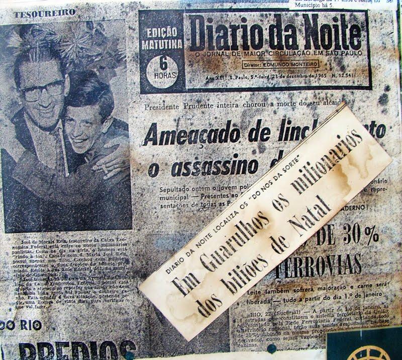 Capa de Jornal em 1965