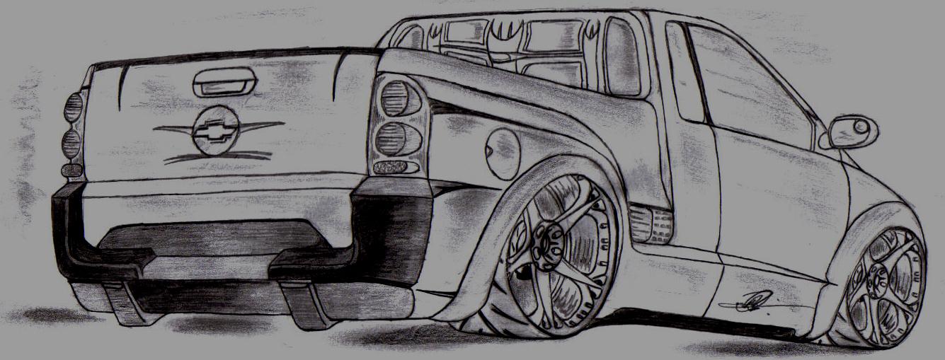 Preferência Chevrolet Montana | Arte Preto Desenhos PG72