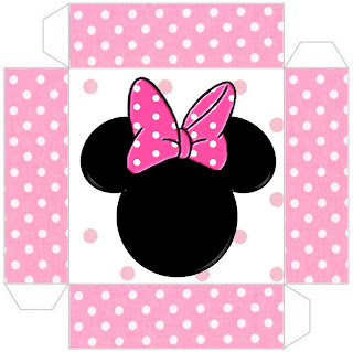 cajita-invitación de Minnie Mouse