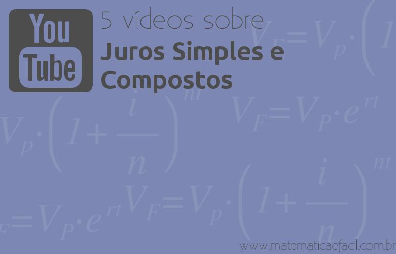 5 vídeos sobre Juros Simples e Compostos