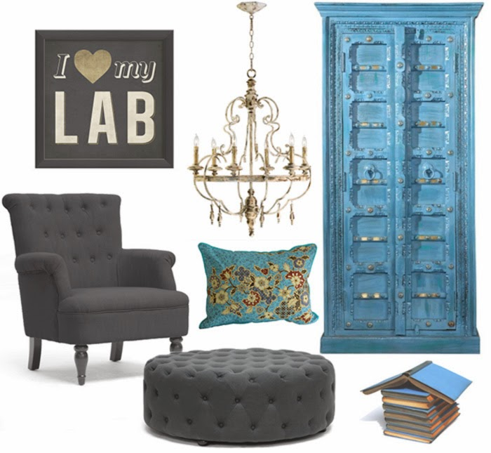 Colors in interiors design: blue