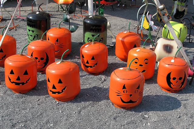 Cilindros de gás decorados