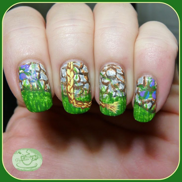 Rapunzel-Nail-Art-Cartoon