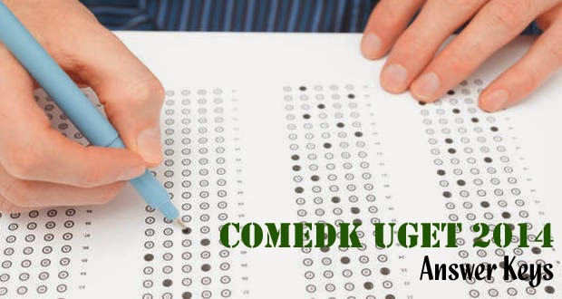 COMEDK UGET 2014 Answer Keys