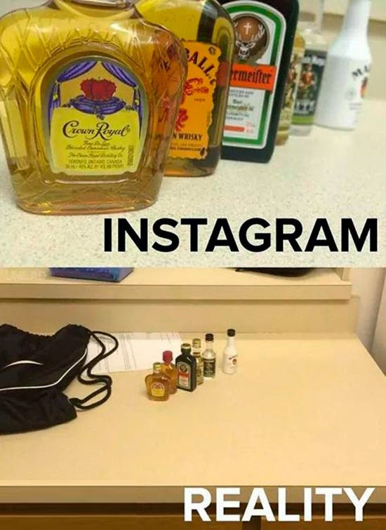 Instagram vs realidade