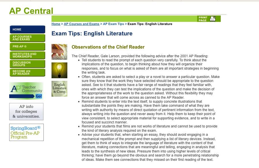 Ap English Essays