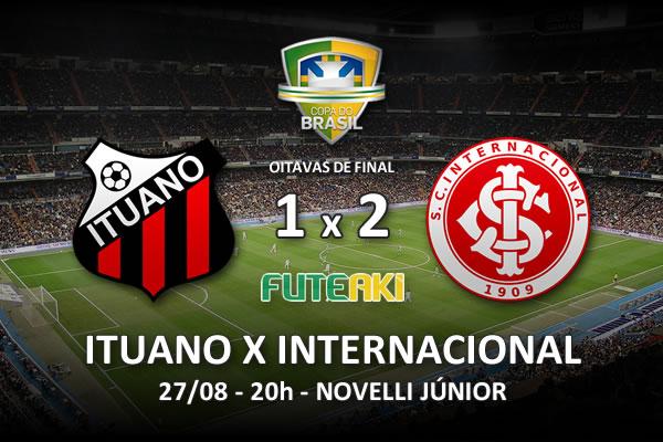 Veja o resumo da partida com os gols e os melhores momentos de Ituano 1x2 Internacional pelas oitavas de final da Copa do Brasil 2015.