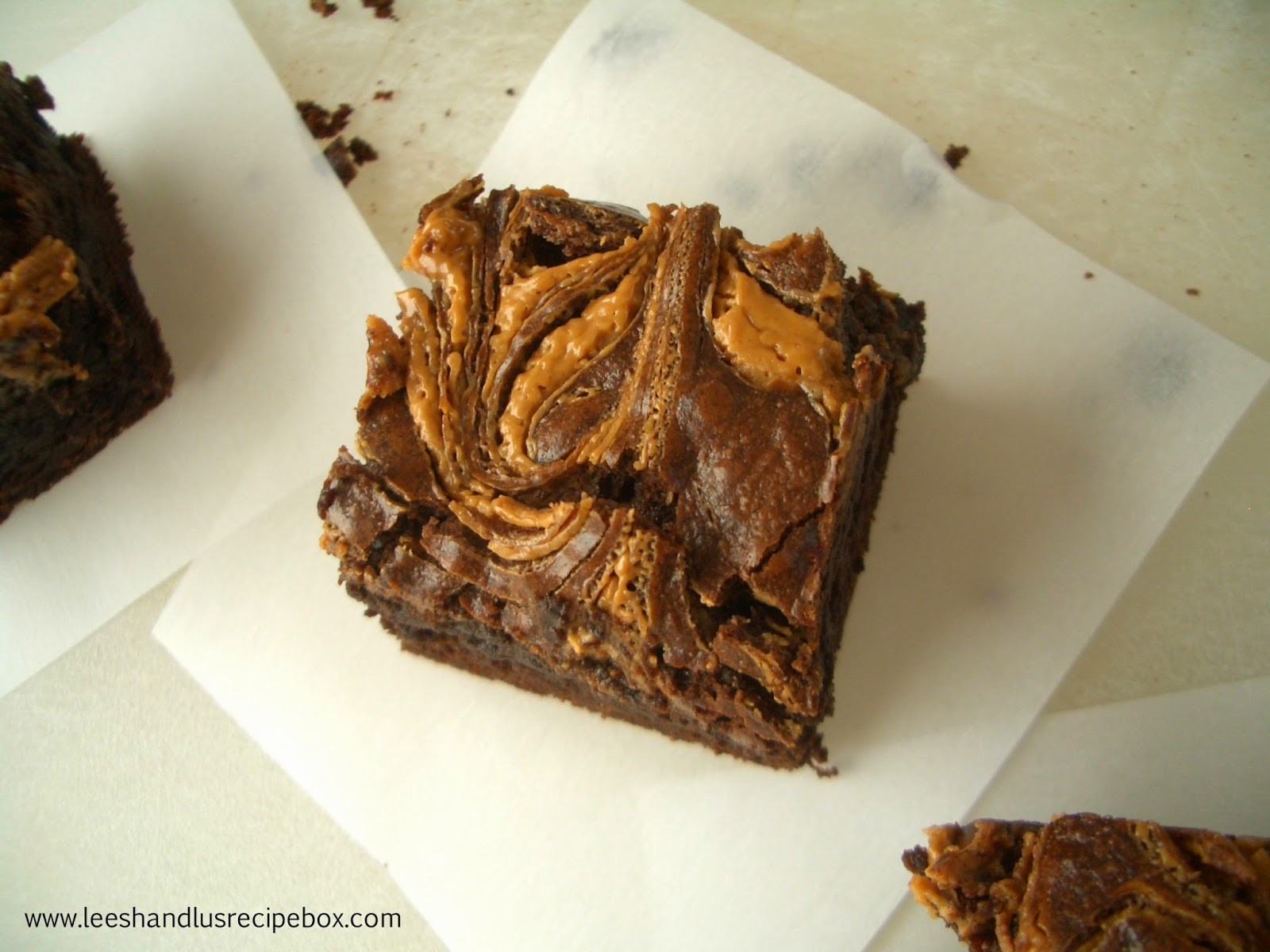 Dark Chocolate Peanut Butter Brownies | Leesh & Lu's Recipe Box
