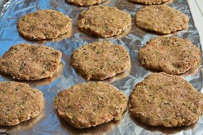 ... Ground Turkey and Quinoa Patties with Mint, Cumin, and Yogurt-Tahini