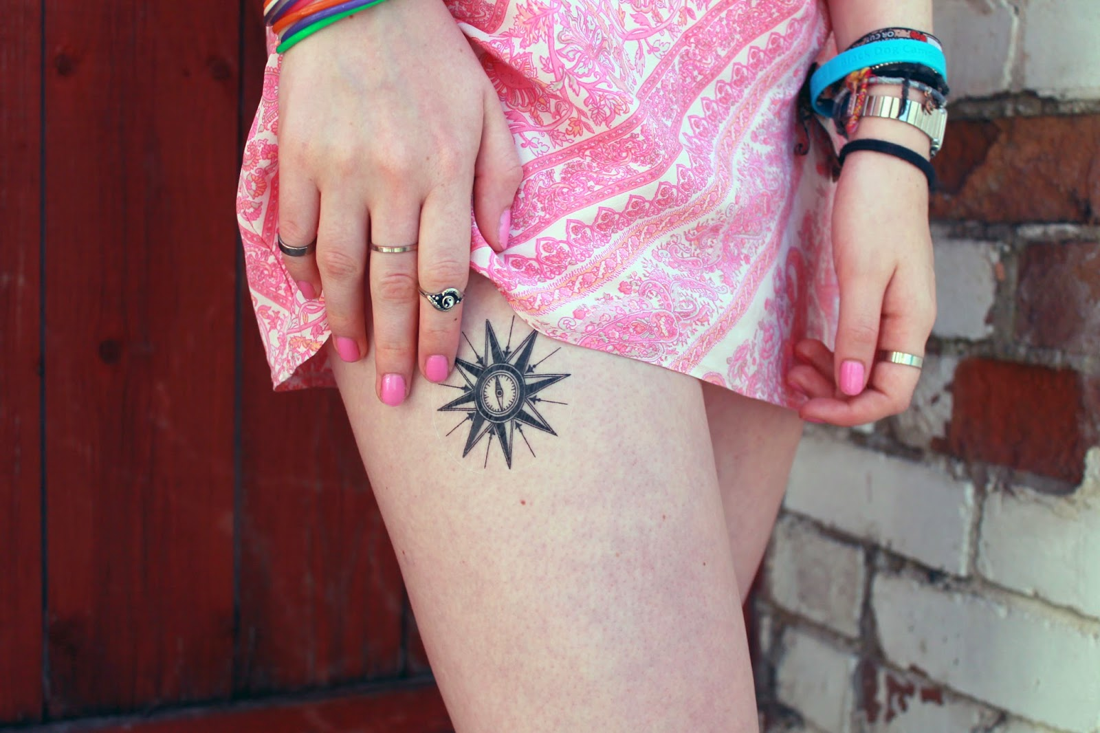 tttattoo temporary tattoo of a compass perfect for festivals
