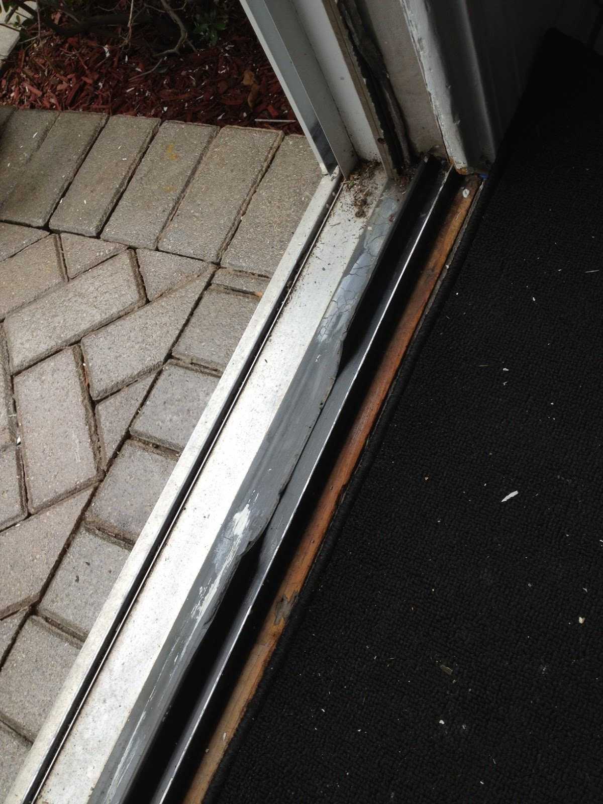 Sliding Patio Doors REPAIR OF PLASTIC DOOR TRACK