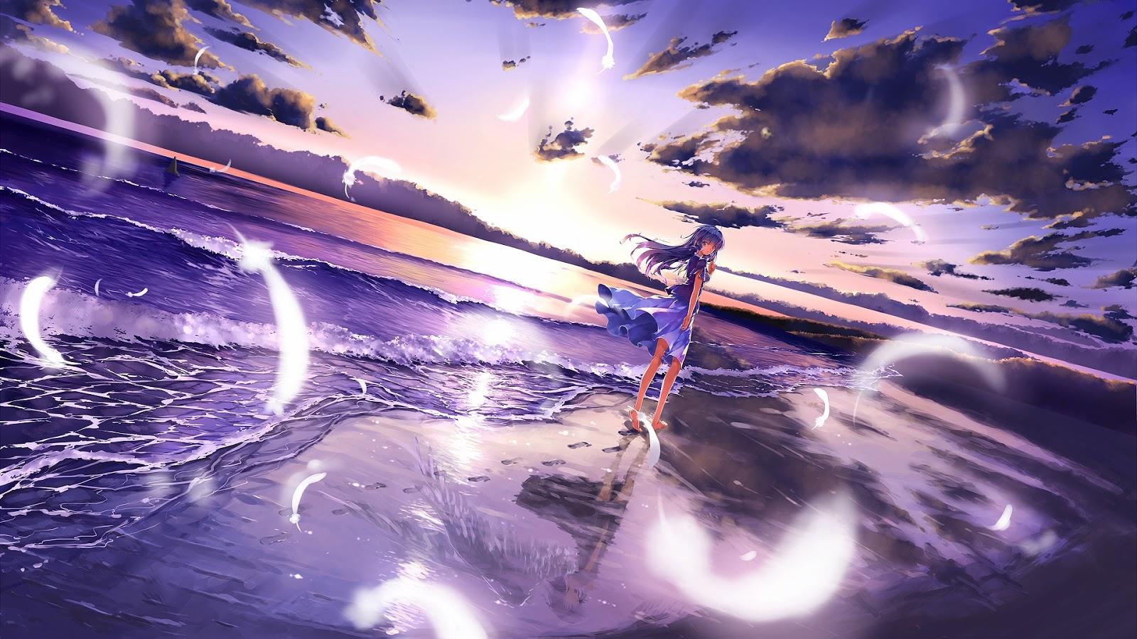 Anime Girl Beach
