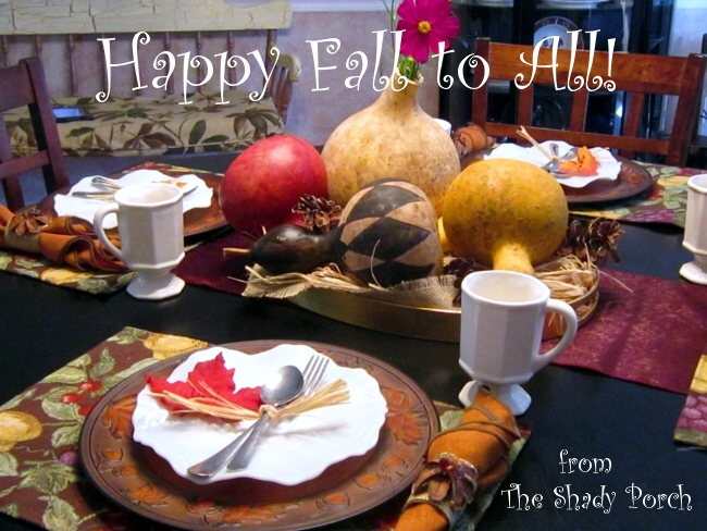 Fall Table Setting by The Shady Porch