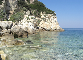 Road trip to Elba - Elba island coast, rocks and crystal clear sea